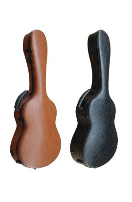 Estuche Fibra Guitarra Clásica Cuero Negro Cibeles