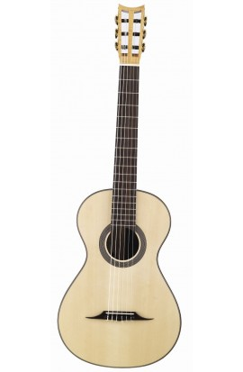Martínez Guitarra Especial - Martínez Romántica 19TH Century, Tapa Abeto, Aros y fondo Palosanto India, Diap. Palosanto