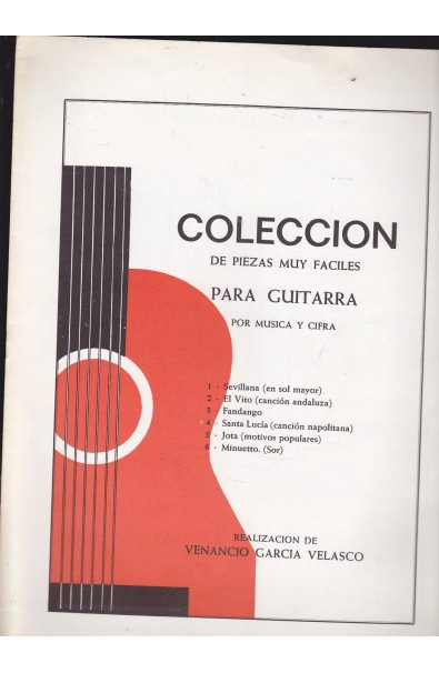 Método Guitarra Venancio Velasco: Álbum Piezas Muy Fáciles
