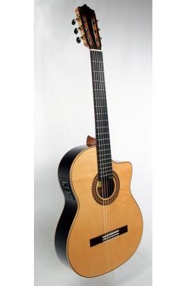 Martínez MFG-RS CE - Guitarra Flamenca Negra EQ Fishman PSY-301