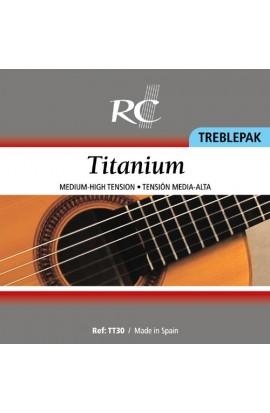 Juego de 3 tiples de Titanio (1 Mi, 1a / 1 Si, 2a / 1 Sol, 3a)